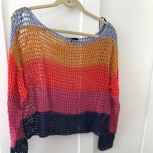BRAND NEW PERFECT CONDITION RAINBOW KNIT TOP
